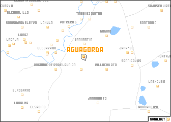 Agua Gorda (Mexico) map - nona.net