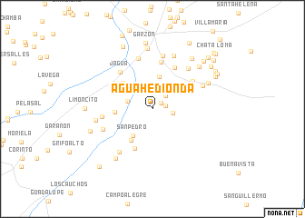map of Agua Hedionda