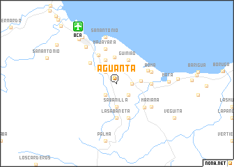 map of Aguanta