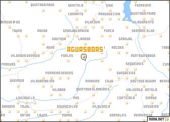 map of Águas Boas