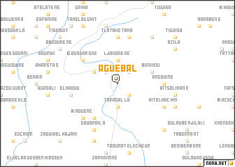 map of Aguebal