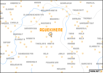 map of Aguekimene