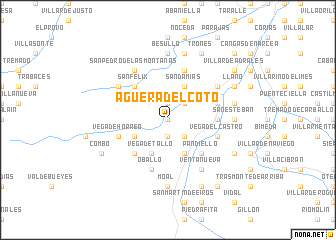 map of Agüera del Coto