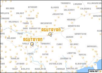 map of Agutayan