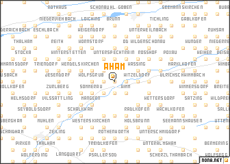 map of Aham