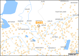 map of Āhan