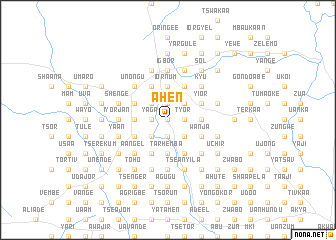 map of Ahen