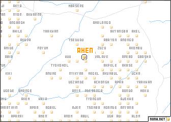 map of Ahen