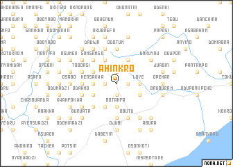 map of Ahinkro