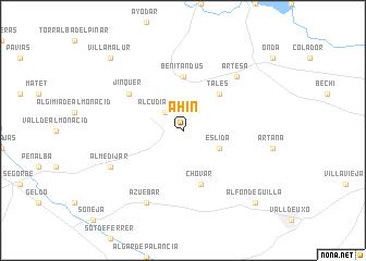map of Ahín