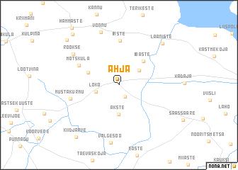 map of Ahja