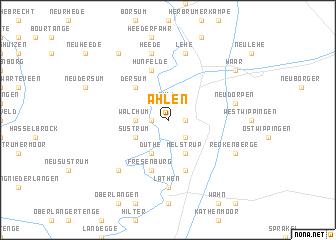 map of Ahlen