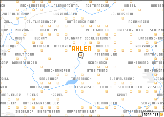map of Ahlen