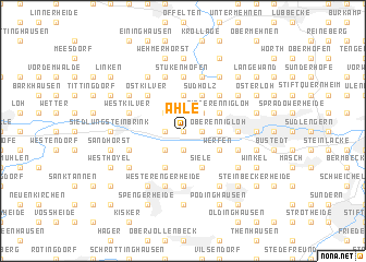 map of Ahle