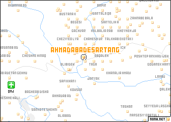 map of Aḩmadābād-e Sar Tang