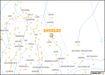 map of Ahmadān