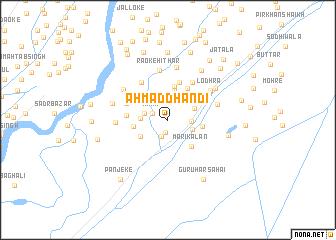 map of Ahmad Dhandi
