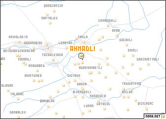 map of Əhmǝdli