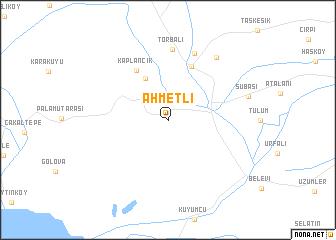 map of Ahmetli
