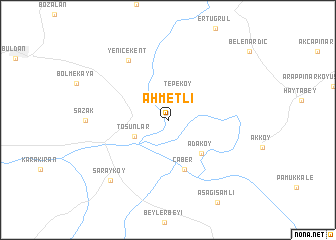 map of Ahmetli
