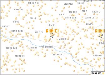 map of Ahmići