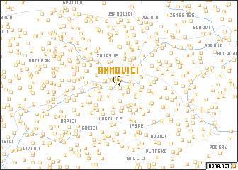 map of Ahmovići