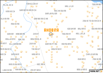 map of Ahobra