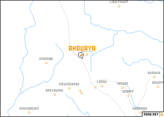 map of Ahouaya
