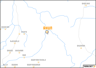 map of Ahun