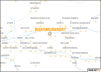 map of Aigen bei Admont