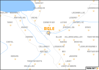 map of Aigle