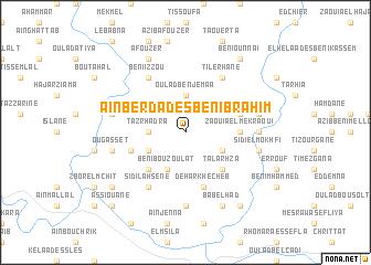 map of Aïn Berda des Beni Brahim
