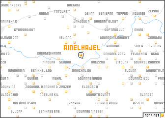 map of Aïn el Hajel