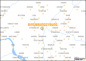 map of Aingbaunggyaung