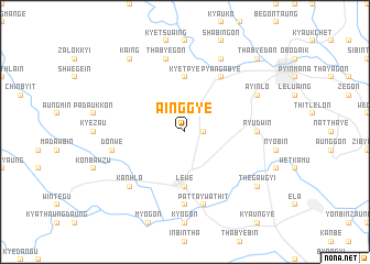 map of Ainggye