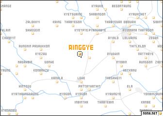 map of Ainggye