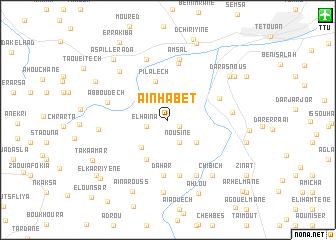 map of Aïn Habet