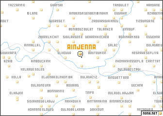 map of Aïn Jenna