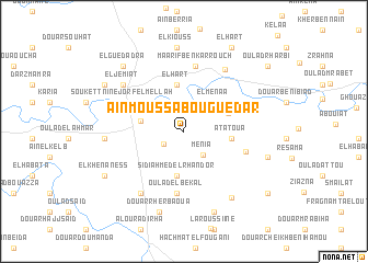map of 'Aïn Moussa Bou Guedar