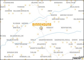 map of Aïn Rehouna