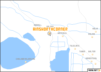 map of Ainsworth Corner