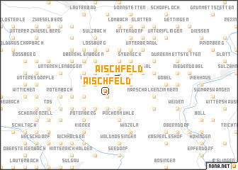 map of Aischfeld