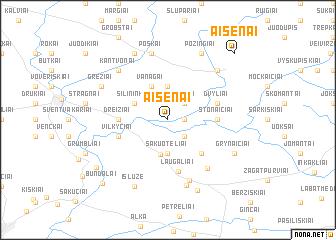 map of Aisėnai