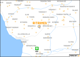 map of Aït Ahmed