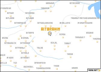 map of Aït Brahim
