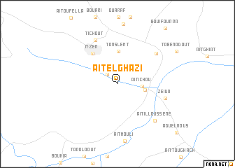 map of Aït el Ghazi