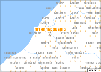 map of Aït Hamed Ou Saïd