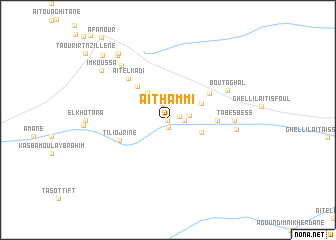 map of Aït Hammi