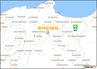 map of Aït Hichene