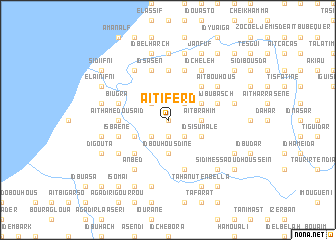 map of Aït Iferd